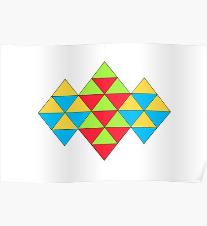 TRIANGLES ARTWORK Poster