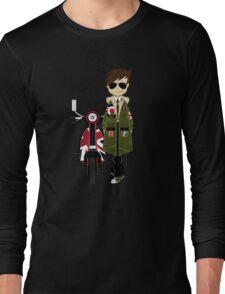 Mod Boy & Retro Scooter Long Sleeve T-Shirt