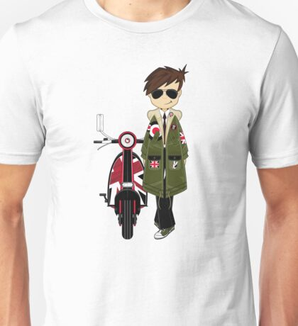 Mod Boy & Retro Scooter Unisex T-Shirt