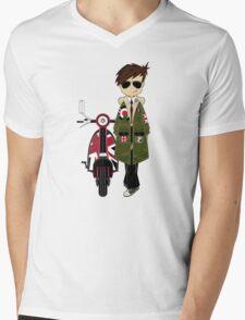 Mod Boy & Retro Scooter Mens V-Neck T-Shirt