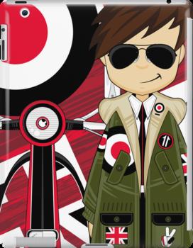 Mod Boy & Retro Scooter by MurphyCreative