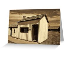 One-Room School House - Ft. Bridger 1880 Greeting Card