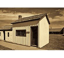 One-Room School House - Ft. Bridger 1880 Photographic Print