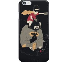 to the batmobile (black) iPhone Case/Skin