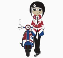 Mod Girl and Scooter by MurphyCreative