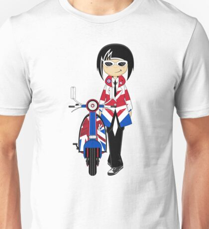 Mod Girl and Scooter Unisex T-Shirt