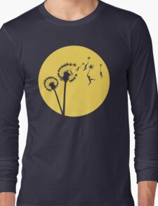 Dandylion Flight - Reversed Circular Long Sleeve T-Shirt