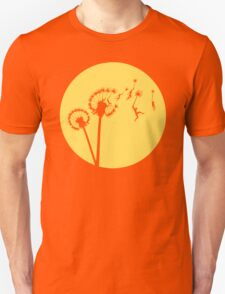 Dandylion Flight - Reversed Circular Unisex T-Shirt