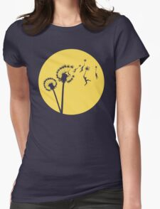 Dandylion Flight - Reversed Circular Womens Fitted T-Shirt