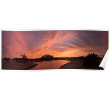 Dallas Cowboys Sunset Poster