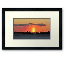 Prairie Geyser Framed Print