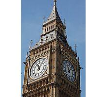Big Ben, famous London tourist attraction Photographic Print