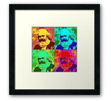 Karl Marx Pop Art Framed Print