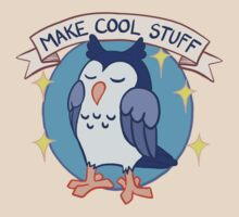 Make Cool Stuff owl emblem by Veronica Guzzardi