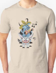 Cool Bull With His Friend Donkey Playing Music!!! T-Shirt