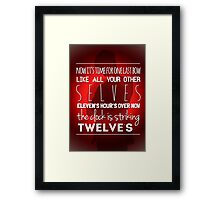 The day of the Doctor Framed Print