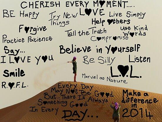 Cherish Every Moment - Happy 2014 - Dubai by AndreaEL