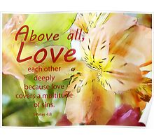 Love covers-1 Peter 4:8 Poster