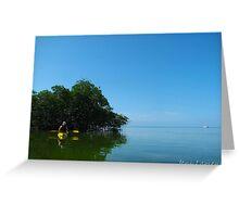 Kayaking In The Keys Greeting Card