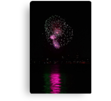 New Years Eve Fireworks 2014 Canvas Print
