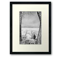 Casting Big Shadows Black and White Framed Print