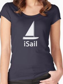 iSail WHITE Women's Fitted Scoop T-Shirt
