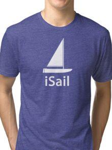 iSail WHITE Tri-blend T-Shirt