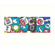 Social Media Collage Art Print