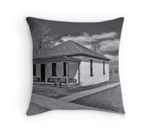 Ft. Bridger Guardhouse 1888 - 1890  Throw Pillow