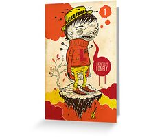 LONELY BOY Greeting Card