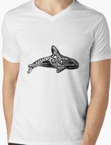Free The Whales Mens V-Neck T-Shirt