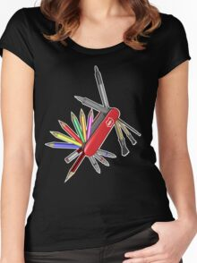 Pocket Art Women's Fitted Scoop T-Shirt