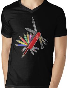 Pocket Art Mens V-Neck T-Shirt