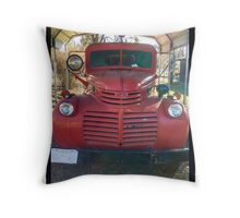 Red Truck Throw Pillow