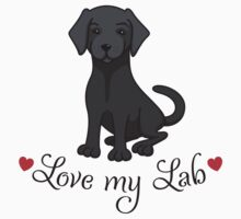 Love my black lab labrador by MheaDesign