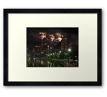 New Year's Eve on the Yarra Framed Print
