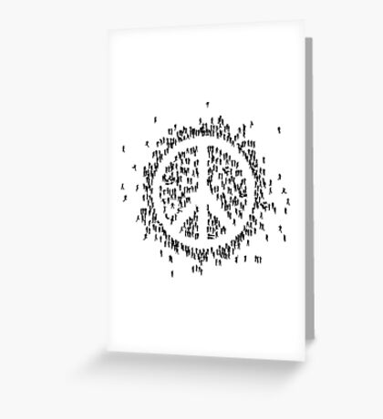all we are saying.... is give peace a chance.... Greeting Card