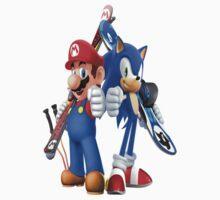Mario & Sonic by SirNico
