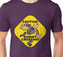 Crash Test Dummies - Caution Dummy Crossing - Purple Dummy Unisex T-Shirt