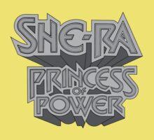 She-Ra Princess of Power - Logo - Black & White by DGArt