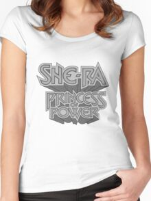 She-Ra Princess of Power - Logo - Black & White Women's Fitted Scoop T-Shirt