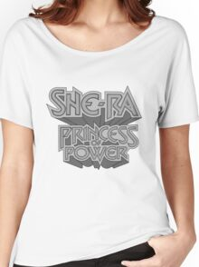 She-Ra Princess of Power - Logo - Black & White Women's Relaxed Fit T-Shirt