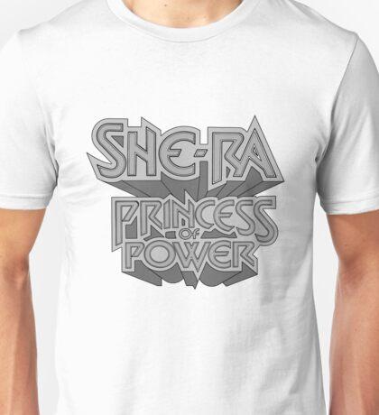 She-Ra Princess of Power - Logo - Black & White Unisex T-Shirt