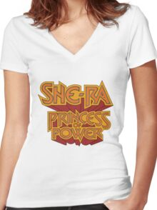 She-Ra Princess of Power - Logo - Color Women's Fitted V-Neck T-Shirt