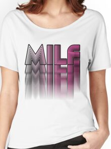 MILF Pink Blur Design Women's Relaxed Fit T-Shirt