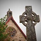 Kimelford Church and Cross by kalaryder