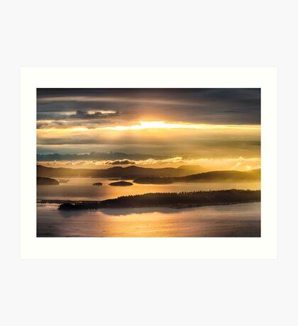Sunset from Blanchard Mountain  Art Print