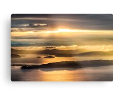 Sunset from Blanchard Mountain  Metal Print