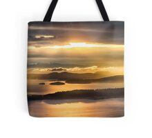Sunset from Blanchard Mountain  Tote Bag