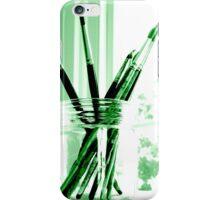 Green brushes iPhone Case/Skin